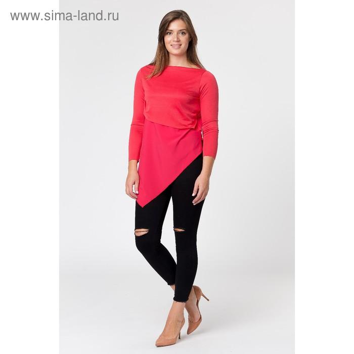 Туника женская, размер 46, цвет красный (арт. 4119)