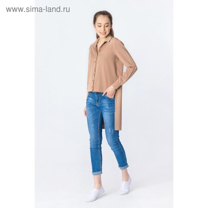 Блуза женская, размер 42, цвет кофе (арт. 2201)