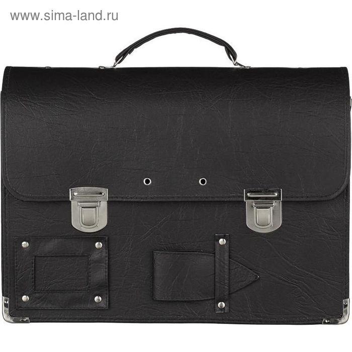 """Папка-портфель """"Совершенно секретно"""", с пломбировкой, чёрная, 380x290 мм"""
