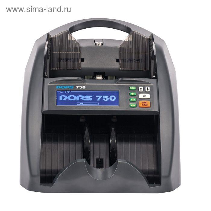 Счётчик банкнот DORS 750 Black, 1500 банкнот/мин., 5 видов детекций, гарантия СЦ – 1 год