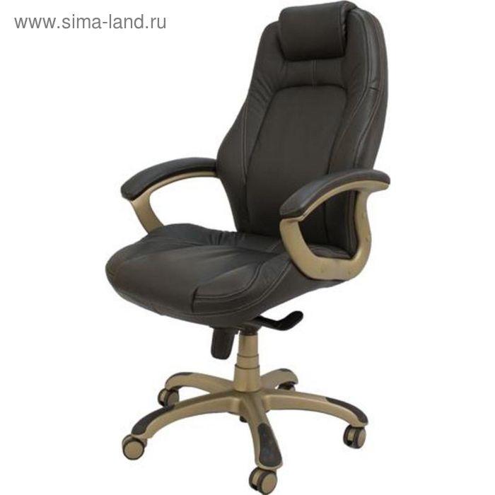 Кресло для руководителя EChair CS-630Е черное (кожа/пластик)