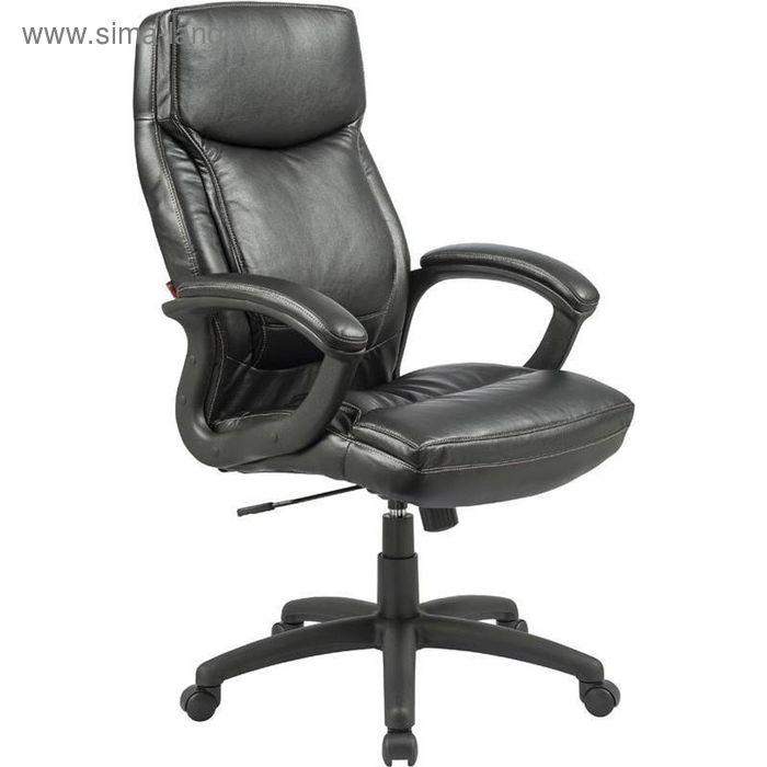 Кресло для руководителя EChair CS-658E черное (искусственная кожа/пластик)
