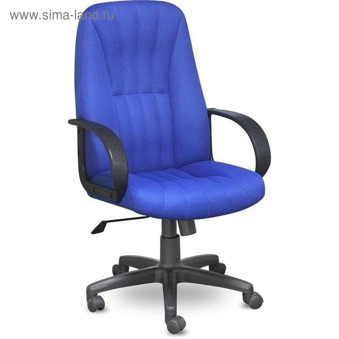 Кресло для руководителя EChair 624 TTW синее (ткань/пластик)