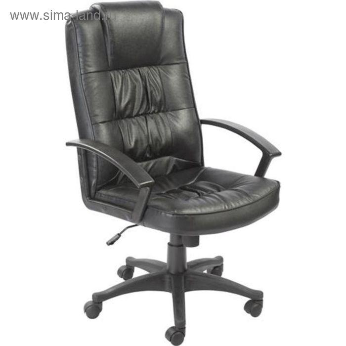Кресло для руководителя EChair 605 TS черное (кожа/пластик)