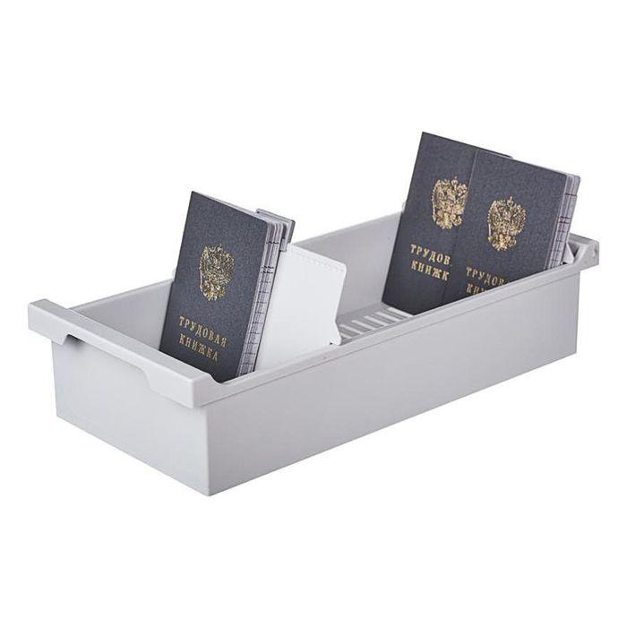 Картотека Exacompta А6 на 1200 карточек, 347x166x79 мм