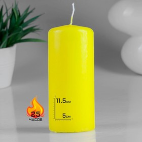 Hemp candle 50x115 yellow