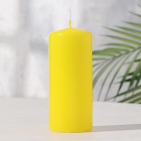 Hemp candle 50x115 yellow