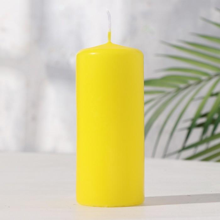 Свеча пеньковая 50х115 желтая