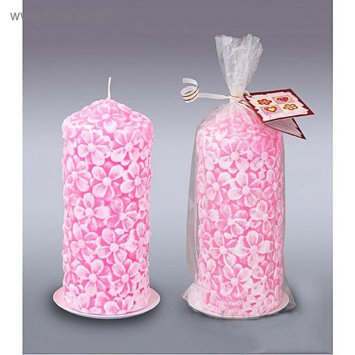 Пенёк цветочный розовый №2