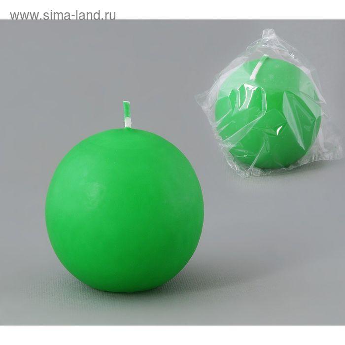 Свеча шар 55 зеленый