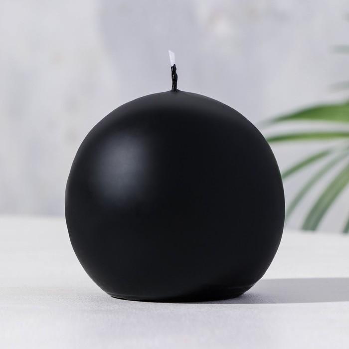 Свеча шар 80 черный