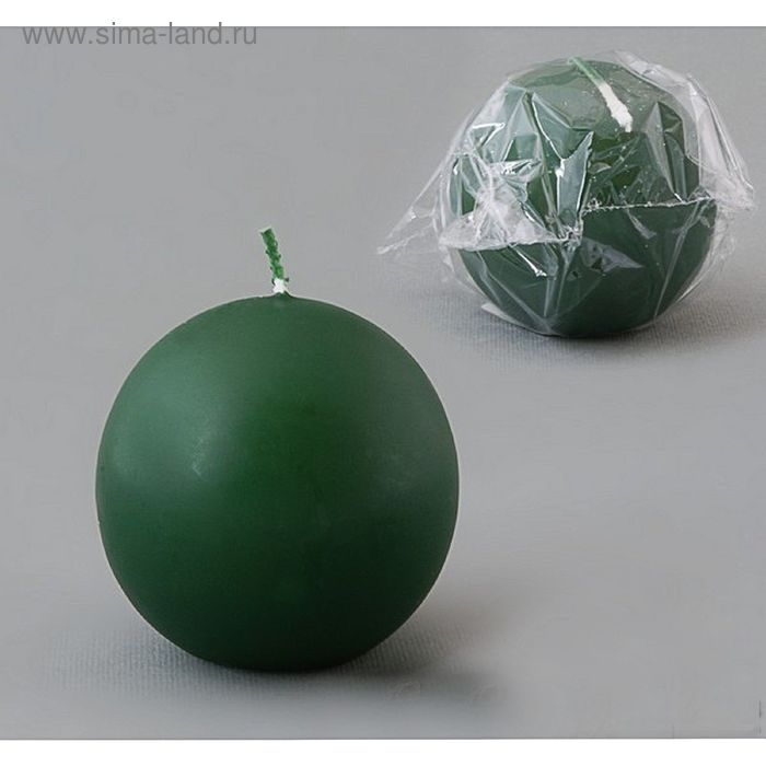 Свеча шар 80 темно-зеленый