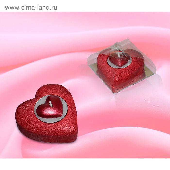 Свеча сердце рубиновое