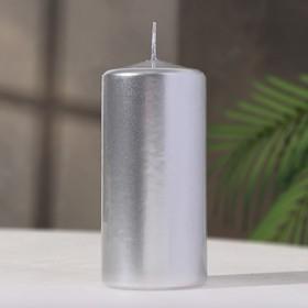 Свеча пенек 60x125 серебристый