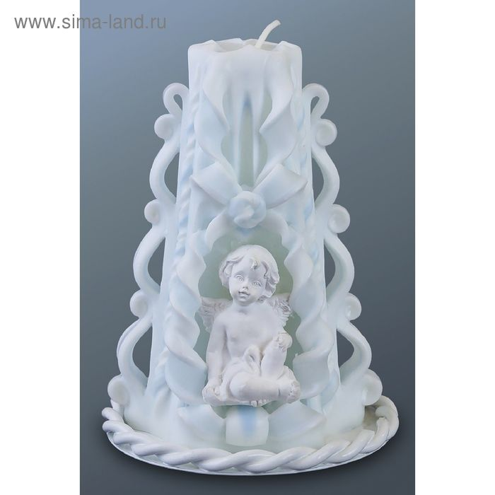 Свеча резная малая с ангелочком