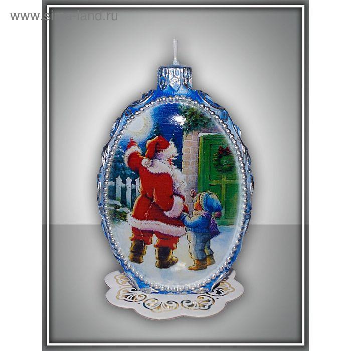 """Свеча овальная """"Дед Мороз"""""""