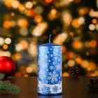 Свеча пеньковая новогодняя, голубая