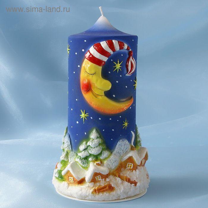 """Супер-свеча """"Месяц над деревней"""""""