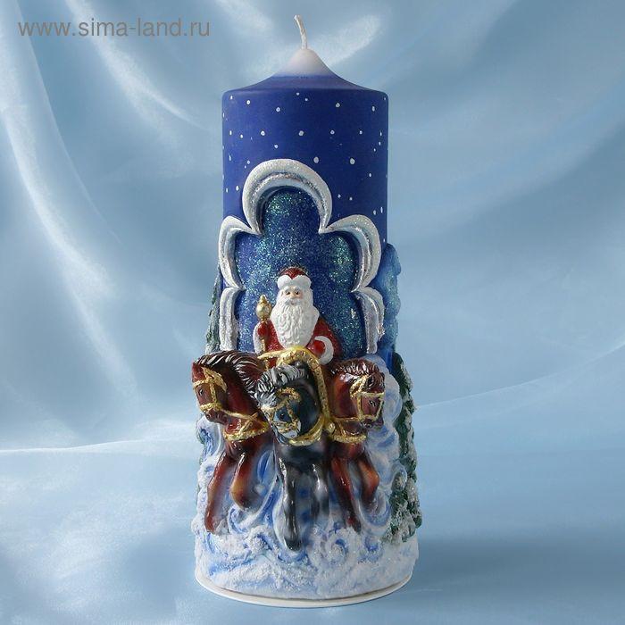 """Супер-свеча """"Тройка с Дедом Морозом"""""""