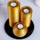 Свечи круглая композиция золото + тарелка - фото 891260