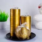 Свечи круглая композиция золото + тарелка - фото 891261