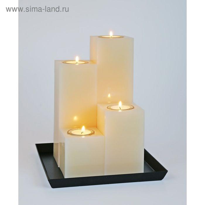 Свечи квадратная композиция кремовая
