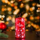 Свеча пеньковая новогодняя, красная