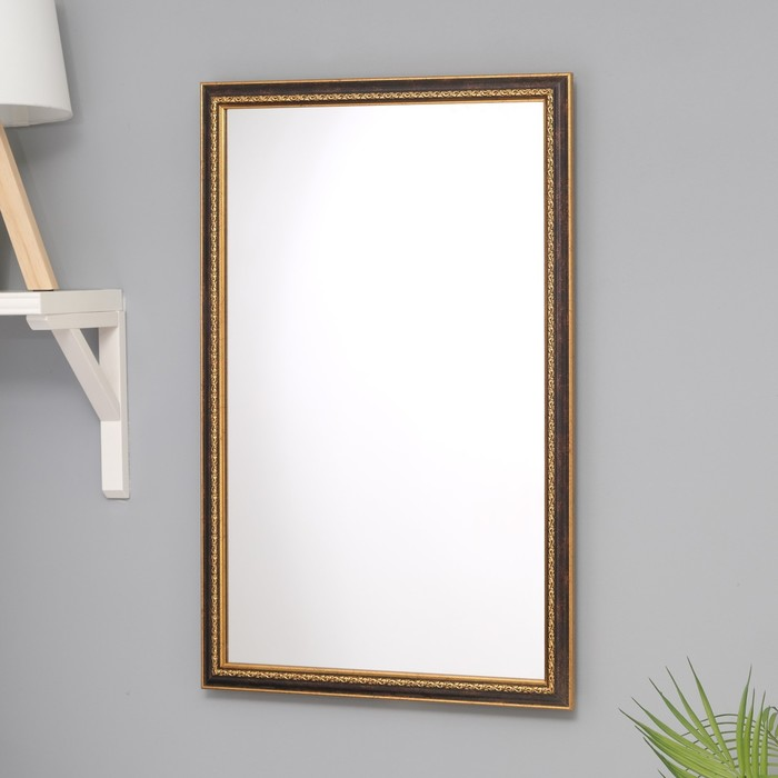 Зеркало «Макао», настенное, бронза, 45×70 см, рама пластик, 33 мм