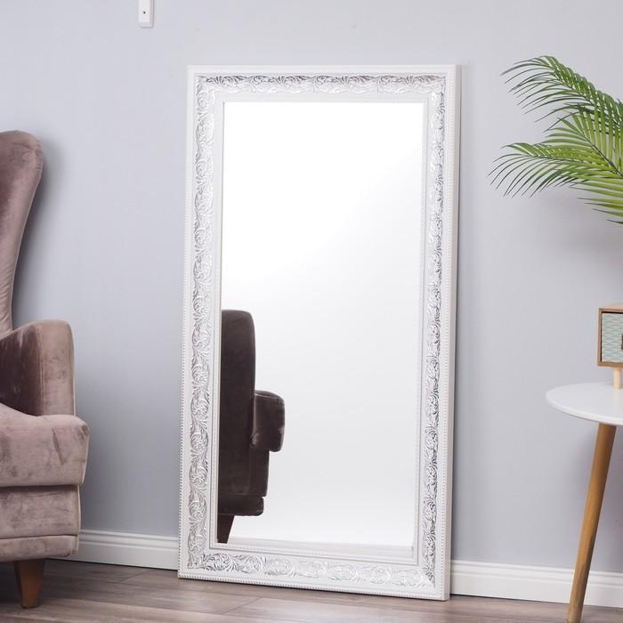 Зеркало «Престиж»,  настенное белое, 63×110 см