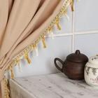 Тесьма с кистями, цвет белый/персиковый/золотой