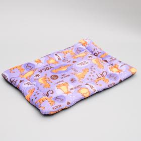 """Коврик-лежанка легкий  """"Дизайн"""" прямоугольный  65х45 см микс цветов"""