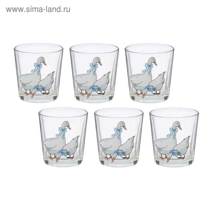 """Набор стаканов 250 мл """"Гуси"""", 6 шт"""