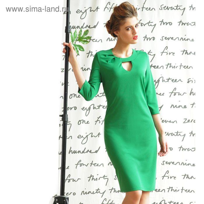 Платье 5101, размер 48, рост 164 см, цвет зеленый