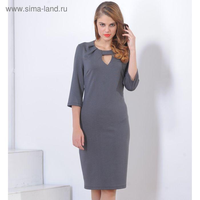 Платье 5101а, размер 46, рост 164 см, цвет черный/серый