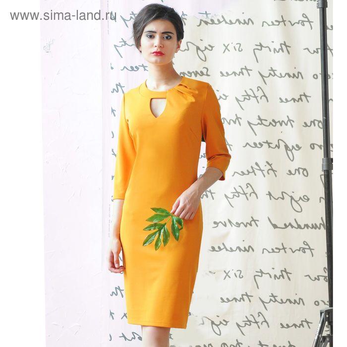 Платье 5101б С+, размер 50, рост 164 см, цвет горчица