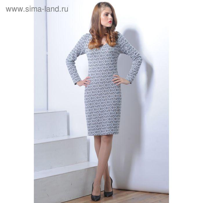 Платье 5113 С+, размер 50, рост 164 см, цвет серый/черный
