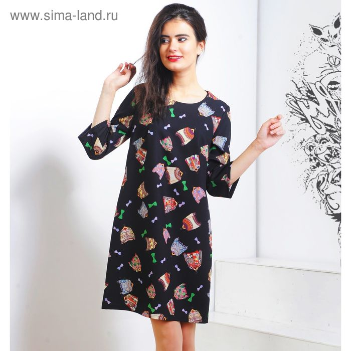 Платье 5119 С+, размер 50, рост 164 см, цвет черный