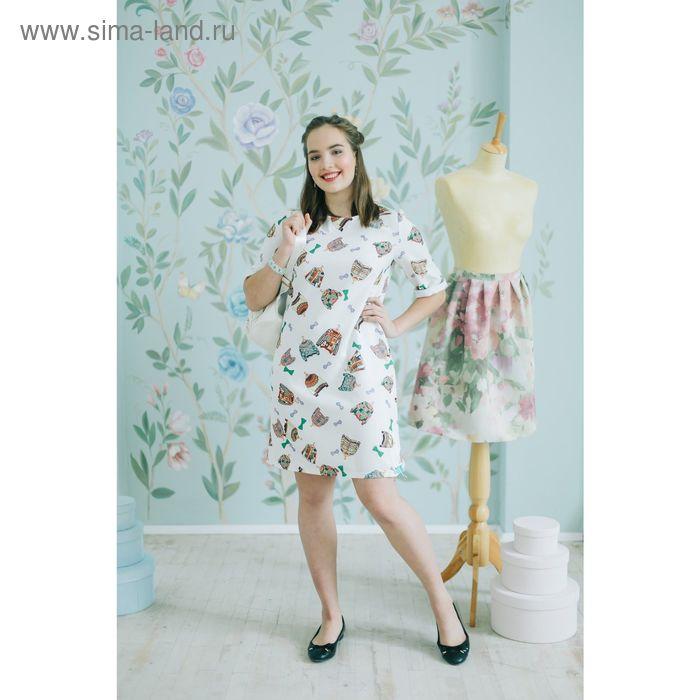 Платье 5119г С+, размер 50, рост 164 см, цвет белый