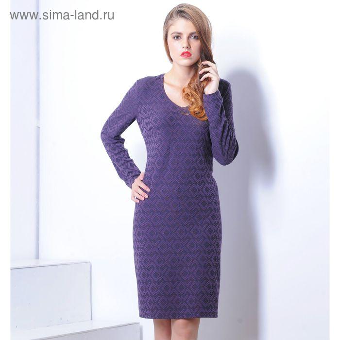 Платье 5113а С+, размер 54, рост 164 см, цвет фиолетовый/черный