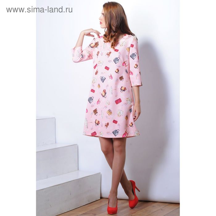 Платье 5126 С+, размер 50, рост 164 см, цвет розовый