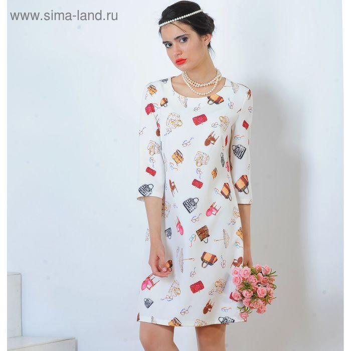 Платье 5126а, размер 46, рост 164 см, цвет белый