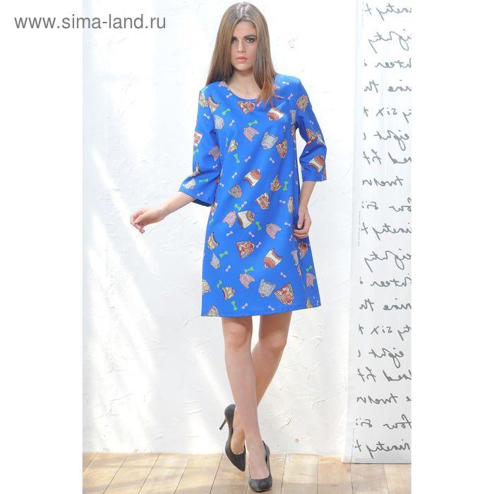 Платье 5119в С+, размер 50, рост 164 см, цвет синий