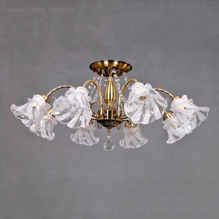 """Люстра """"Анна"""" 8 ламп 60W Е14 античная бронза"""