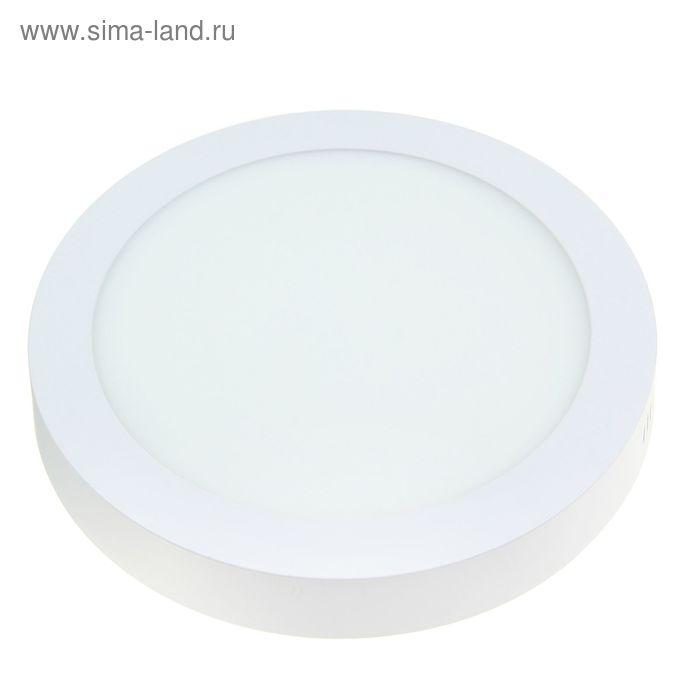 Панель круглая накладная D 225 мм, 18 W, LED-90-2835-1260Lm-6500К-120deg-160-260V