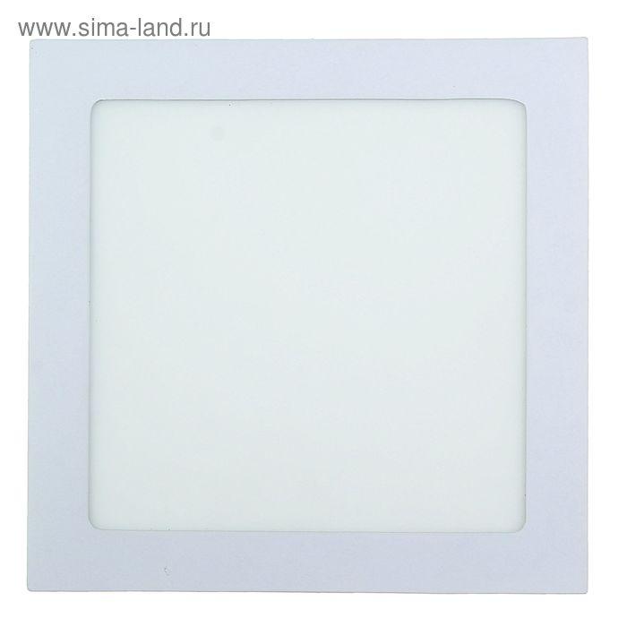 Панель квадратная встраиваемая 225х225 мм, 18 W, LED-90-2835-1260Lm-4000К-120deg-160-260V