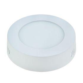 Панель круглая накладная D 120 мм, 6 W, LED-30-2835-420Lm-4000К-120deg-160-260V Ош