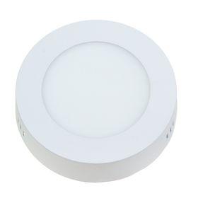 Панель круглая накладная D 120 мм, 6 W, LED-30-2835-420Lm-6500К-120deg-160-260V Ош