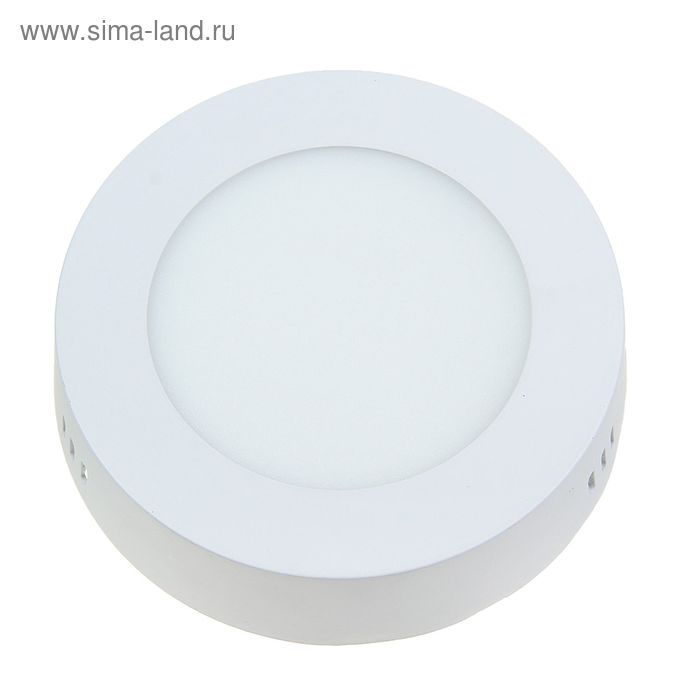 Панель круглая накладная D 120 мм, 6 W, LED-30-2835-420Lm-6500К-120deg-160-260V