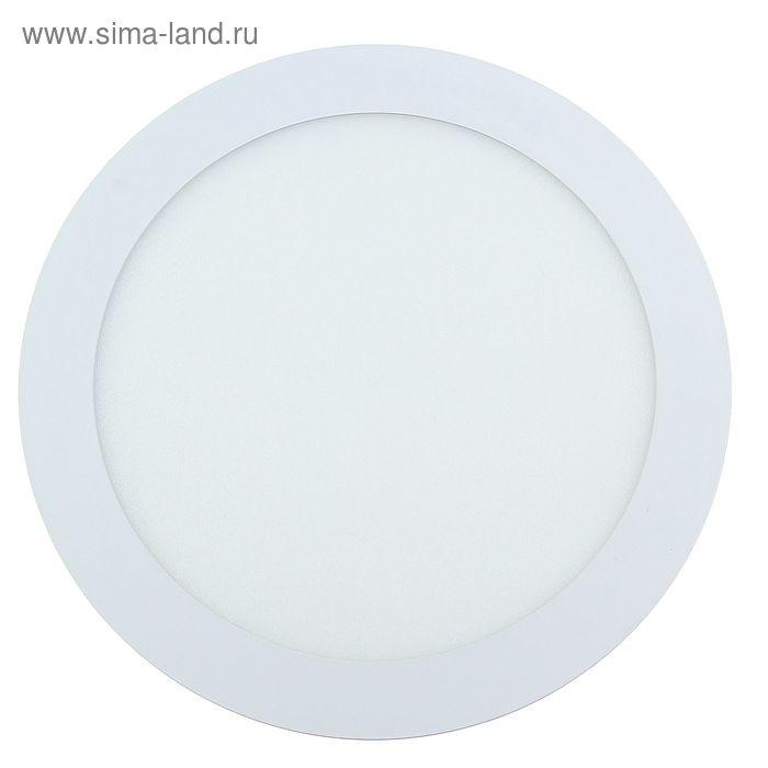 Панель круглая встраиваемая D 225 мм, 18 W, LED-90-2835-1260Lm-4000К-120deg-160-260V
