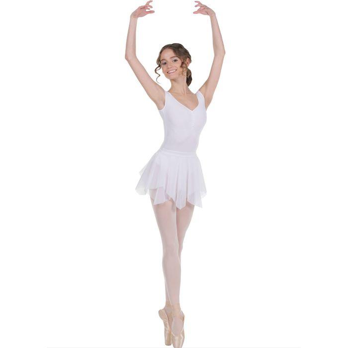 Юбка для гимнастики «Лепесток», размер 32, цвет белый,